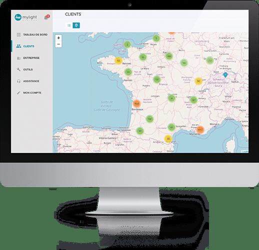 Outil de supervision du parc d'installations MyLight Systems avec MySuperviser